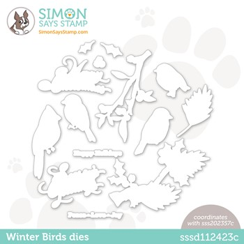Simon Says Stamp WINTER BIRDS Wafer Dies sssd112423c Peace On Earth