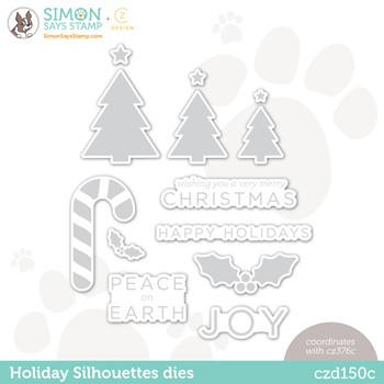 CZ Design Wafer Dies HOLIDAY SILHOUETTES czd150c Peace On Earth