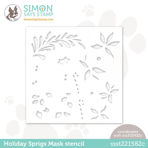 Simon Says Stamp Stencils HOLIDAY SPRIGS MASK ssst221582c Peace On Earth Preview Image