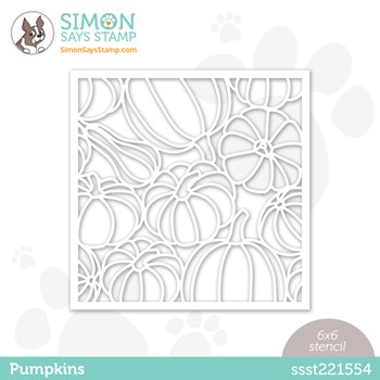 Simon Says Stamp Stencils PUMPKINS ssst221554 Peace On Earth