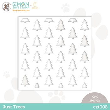 CZ Design Stencil JUST TREES czt008 Peace On Earth
