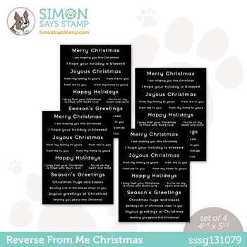 Simon Says Stamp Sentiment Strips REVERSE FROM ME CHRISTMAS sssg131079 Peace On Earth