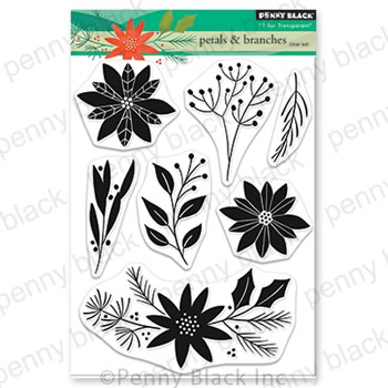 Penny Black Clear Stamps PETALS AND BRANCHES 30-866