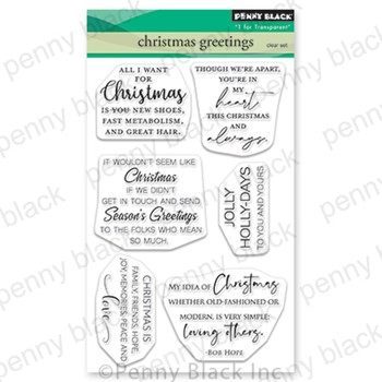Penny Black Clear Stamps CHRISTMAS GREETINGS 30-865