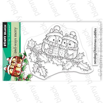 Penny Black Clear Stamps OWL WAYS MERRY 30-850