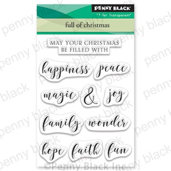 Penny Black Clear Stamps FULL OF CHRISTMAS 30-734