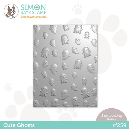 Simon Says Stamp Embossing Folder CUTE GHOSTS sf259 Peace On Earth Preview Image