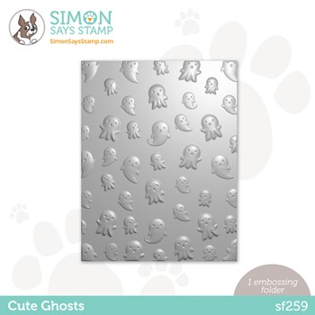 Simon Says Stamp Embossing Folder CUTE GHOSTS sf259 Peace On Earth **