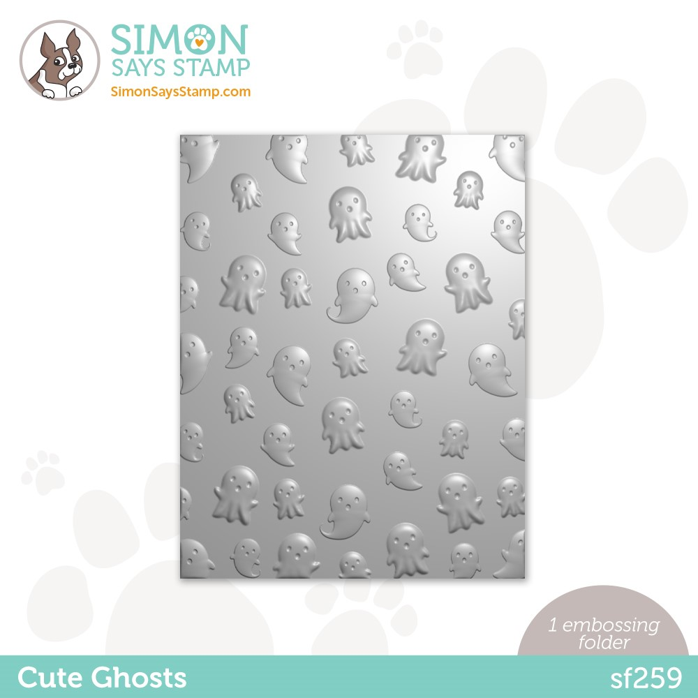 Simon Says Stamp Embossing Folder CUTE GHOSTS sf259 Peace On Earth zoom image