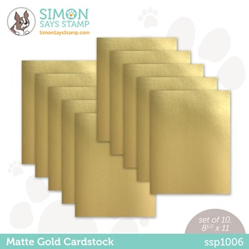 Simon Says Stamp Cardstock MATTE GOLD MIRROR ssp1006 Peace On Earth