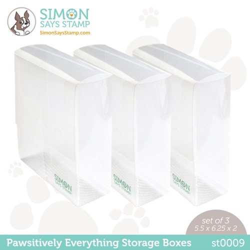 Simon Says Stamp PAWSITIVELY EVERYTHING STORAGE BOXES st0009 Peace On Earth Preview Image