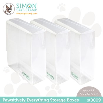 Simon Says Stamp PAWSITIVELY EVERYTHING STORAGE BOXES st0009 Peace On Earth