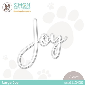 Simon Says Stamp LARGE JOY Wafer Dies sssd112420 Peace On Earth