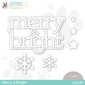 RESERVE CZ Design Wafer Dies MERRY AND BRIGHT czd146 Peace On Earth