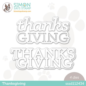 Simon Says Stamp THANKSGIVING Wafer Dies sssd112434 Peace On Earth