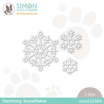 Simon Says Stamp HARMONY SNOWFLAKES Wafer Dies sssd112464 Peace On Earth