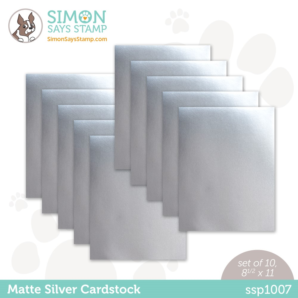 Simon Says Stamp Cardstock MATTE SILVER MIRROR ssp1007 Peace On Earth zoom image