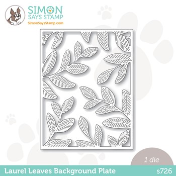 Simon Says Stamp LAUREL LEAVES BACKGROUND PLATE Wafer Die s726 Peace On Earth