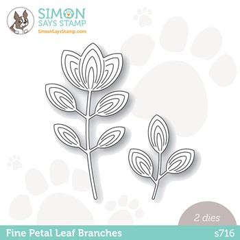 Simon Says Stamp FINE PETAL LEAF BRANCHES Wafer Dies s716 Peace On Earth