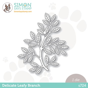 Simon Says Stamp DELICATE LEAFY BRANCH Wafer Die s724 Peace On Earth