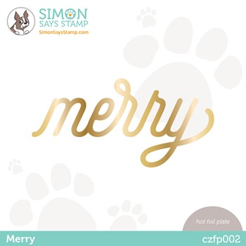 Simon Says Stamp MERRY Hot Foil Plate czfp002 Peace On Earth