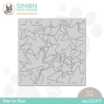 Simon Says Cling Stamp STAR TO STAR sss102377 Peace On Earth