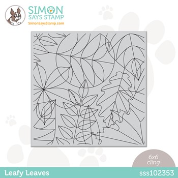Simon Says Cling Stamp LEAFY LEAVES sss102353 Peace On Earth