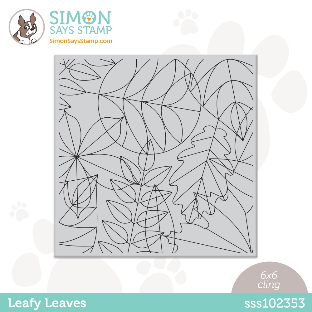 Simon Says Cling Stamp LEAFY LEAVES sss102353 Peace On Earth zoom image
