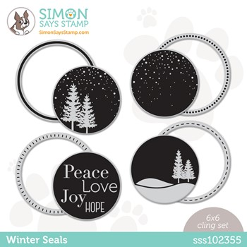 Simon Says Cling Stamp WINTER SEALS sss102355 Peace On Earth