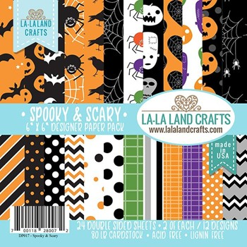 La-La Land Crafts SPOOKY AND SCARY 6x6 inch Paper Pad DP017