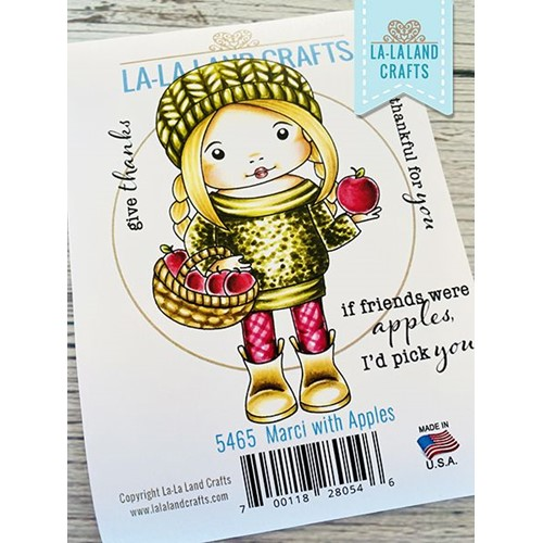 La-La Land Crafts Cling Stamps MARCI WITH APPLES 5465 Preview Image