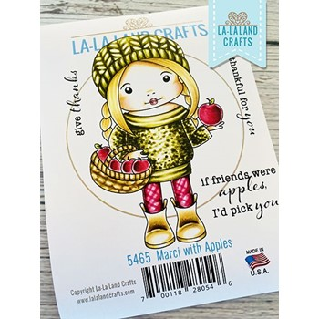La-La Land Crafts Cling Stamps MARCI WITH APPLES 5465