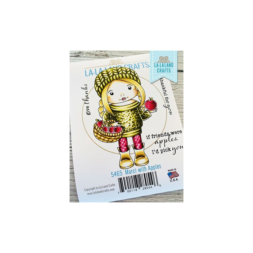 La-La Land Crafts Cling Stamps MARCI WITH APPLES 5465 zoom image