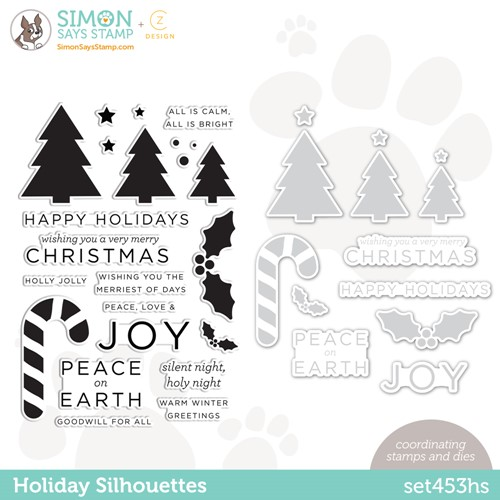CZ Design Stamps and Dies HOLIDAY SILHOUETTES set453hs Peace On Earth Preview Image
