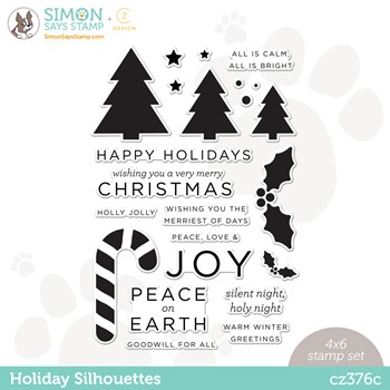 CZ Design Clear Stamps HOLIDAY SILHOUETTES cz376c Peace On Earth