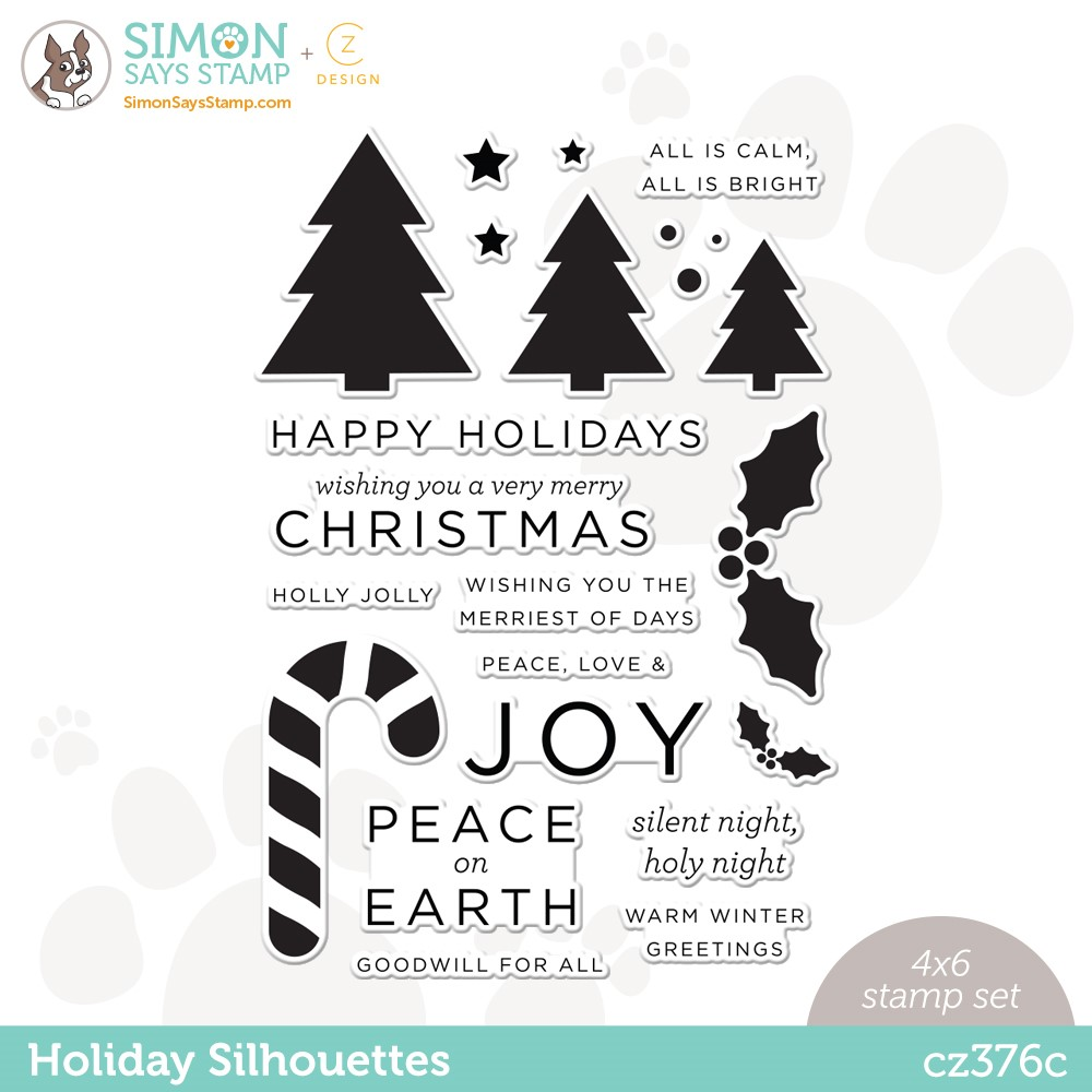 RESERVE CZ Design Clear Stamps HOLIDAY SILHOUETTES cz376c Peace On Earth zoom image