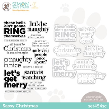 CZ Design Stamps and Dies SASSY CHRISTMAS set454sc Peace On Earth