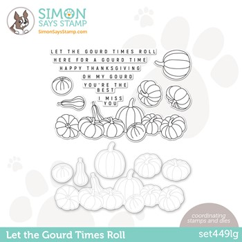 Simon Says Stamps and Dies LET THE GOURD TIMES ROLL set449lg Peace On Earth