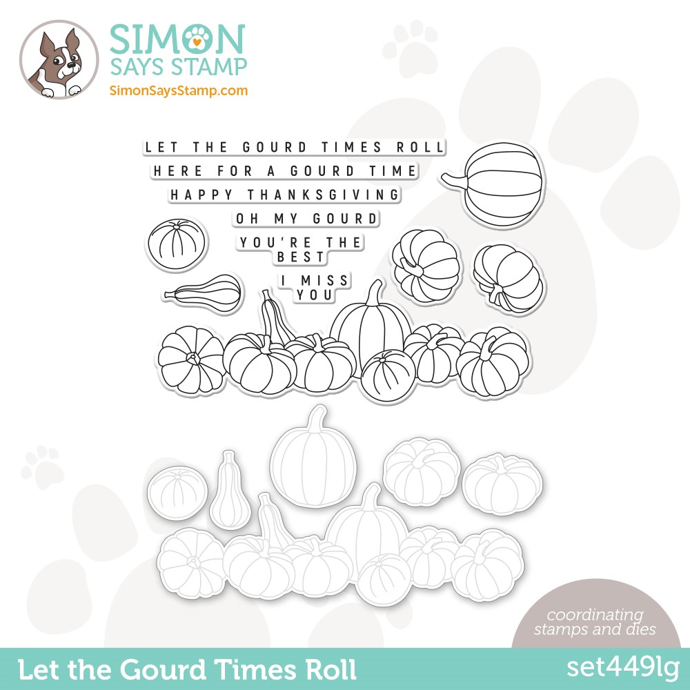 Simon Says Stamps and Dies LET THE GOURD TIMES ROLL set449lg Peace On Earth zoom image