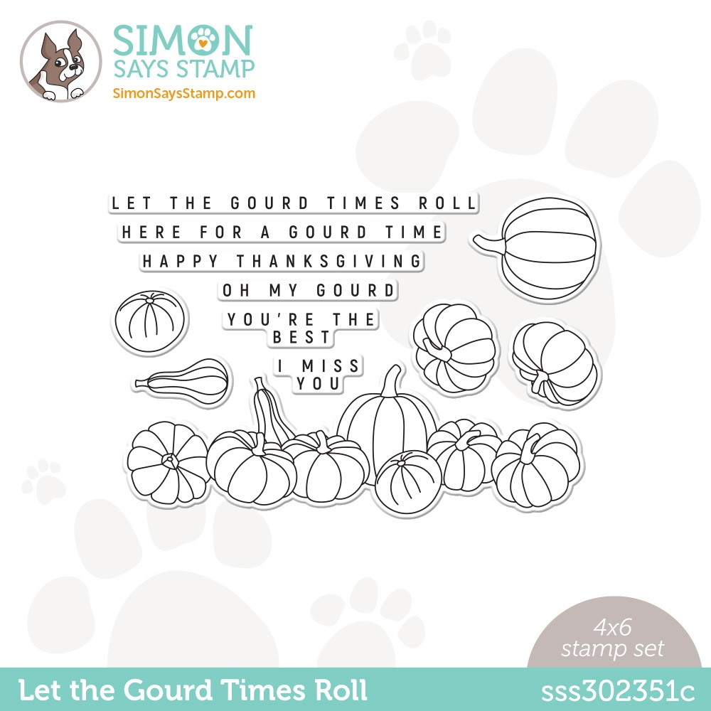 Simon Says Clear Stamps LET THE GOURD TIMES ROLL sss302351c Peace On Earth zoom image