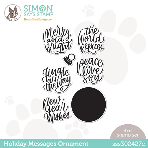 Simon Says Clear Stamps HOLIDAY MESSAGES ORNAMENT sss302427c Peace On Earth Preview Image