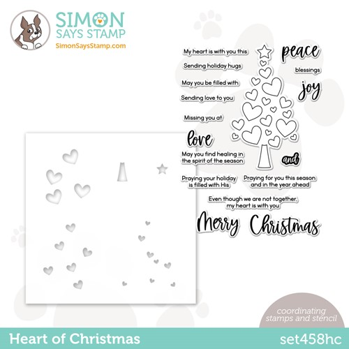 Simon Says Stamps and Stencil HEART OF CHRISTMAS set458hc Peace On Earth Preview Image