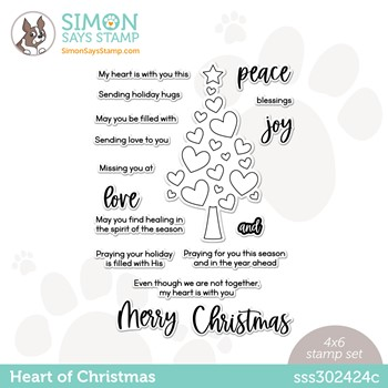Simon Says Clear Stamps HEART OF CHRISTMAS sss302424c Peace On Earth
