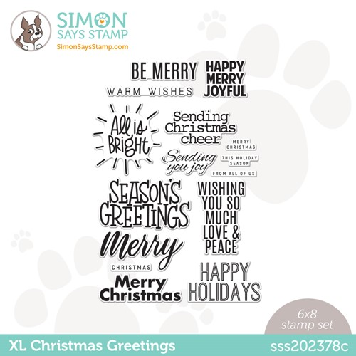 Simon Says Clear Stamps XL CHRISTMAS GREETINGS sss202378c Peace On Earth Preview Image