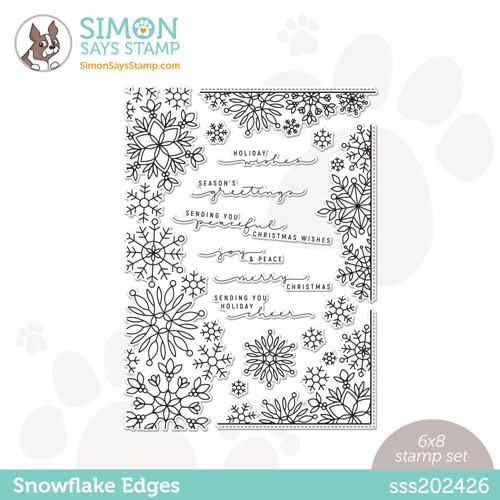 Simon Says Clear Stamps SNOWFLAKE EDGES sss202426 Peace On Earth Preview Image