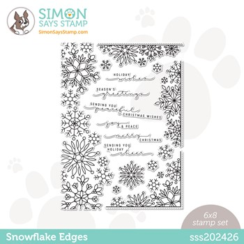 Simon Says Clear Stamps SNOWFLAKE EDGES sss202426 Peace On Earth