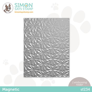 Simon Says Stamp Embossing Folder MAGNETIC sf234 Peace On Earth
