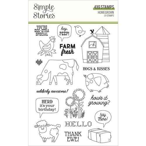 Simple Stories HOMEGROWN Clear Stamp Set 16223 Preview Image