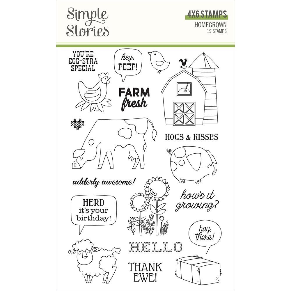 Simple Stories HOMEGROWN Clear Stamp Set 16223 zoom image