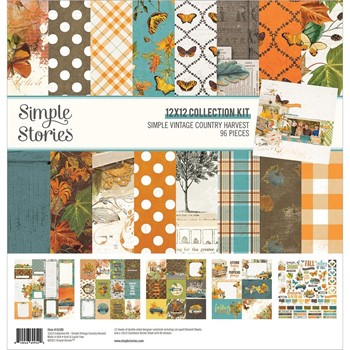 Simple Stories VINTAGE COUNTRY HARVEST 12 x 12 Collection Kit 16300